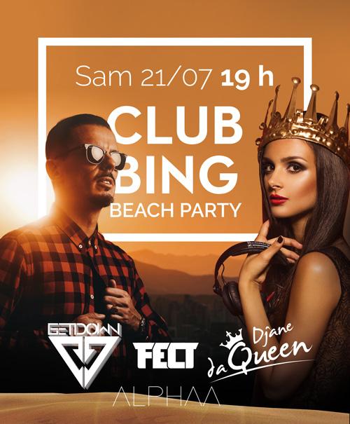 SAMEDI 21/07 CLUBBING BEACH PARTY
